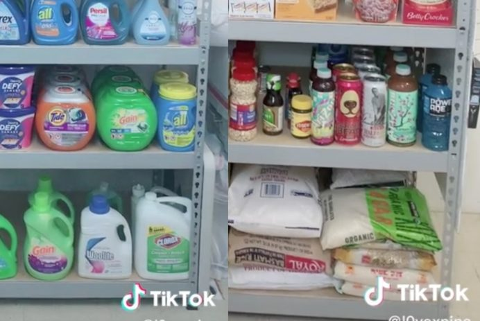 TikToker coupons and stockpiles on goods