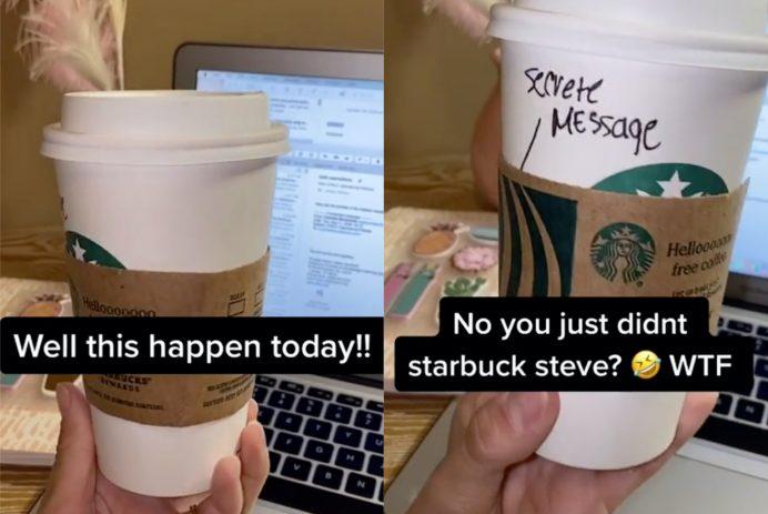 Starbucks cup secret message