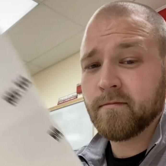 Math teacher grades tests