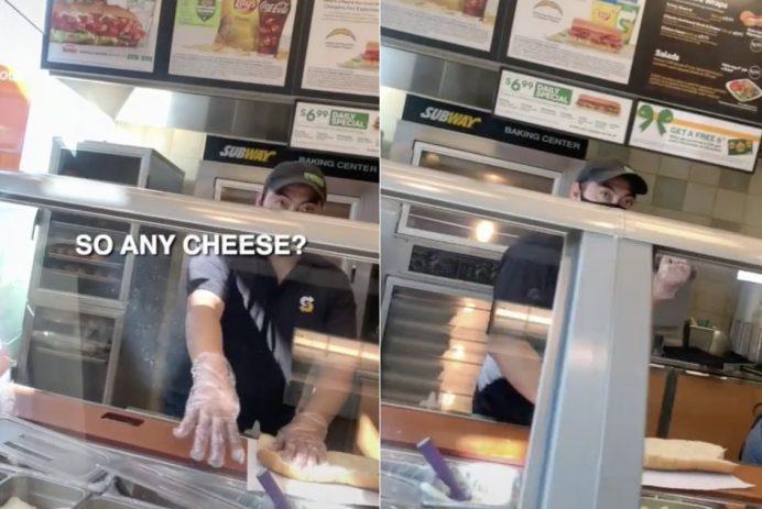 Subway sandwich prank