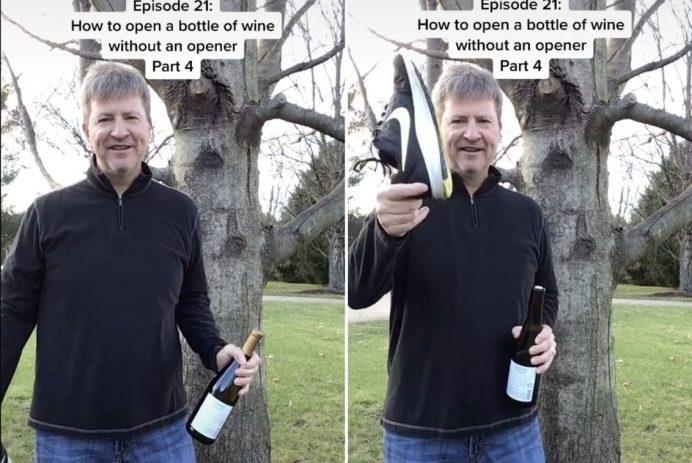 Open a wine bottle