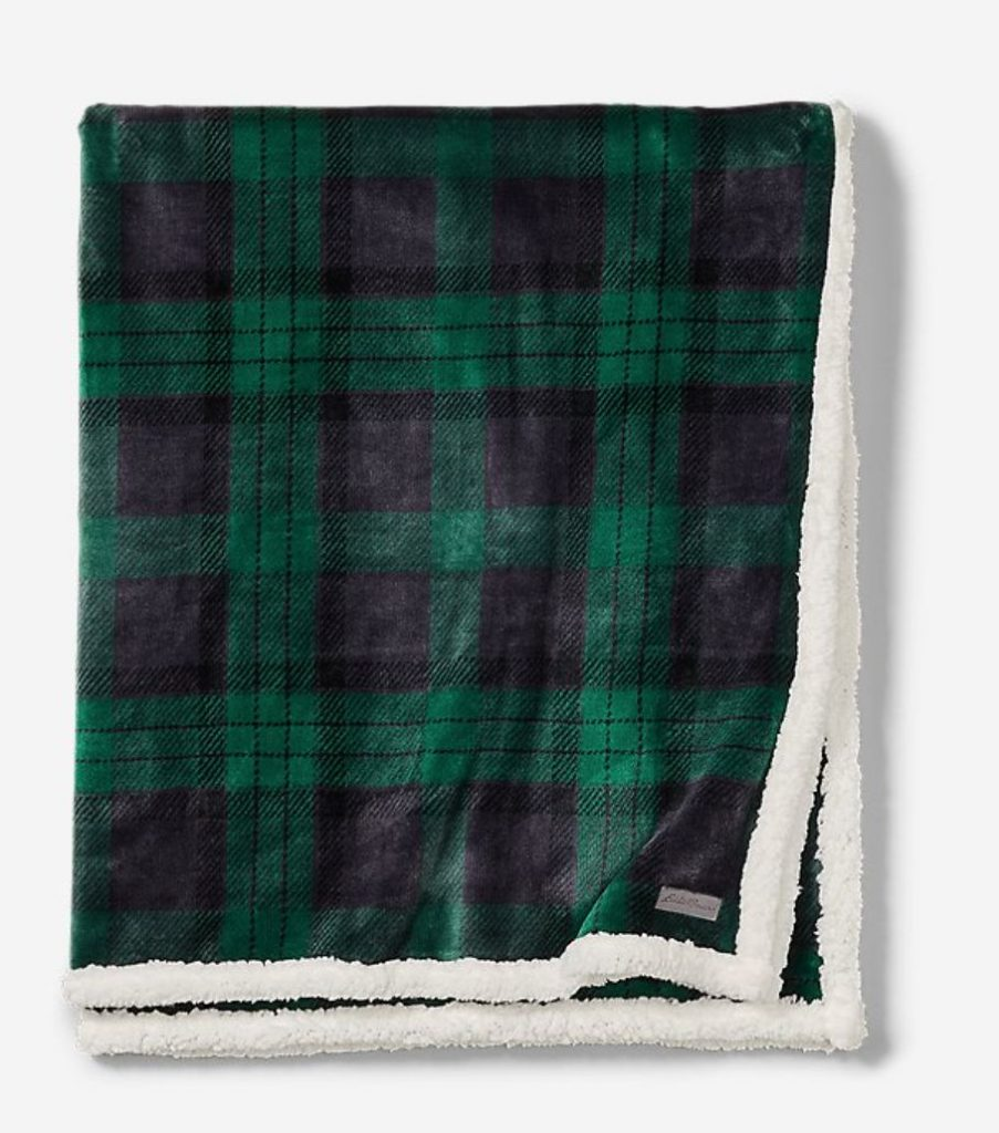 a photo of a fuzzy throw blanket