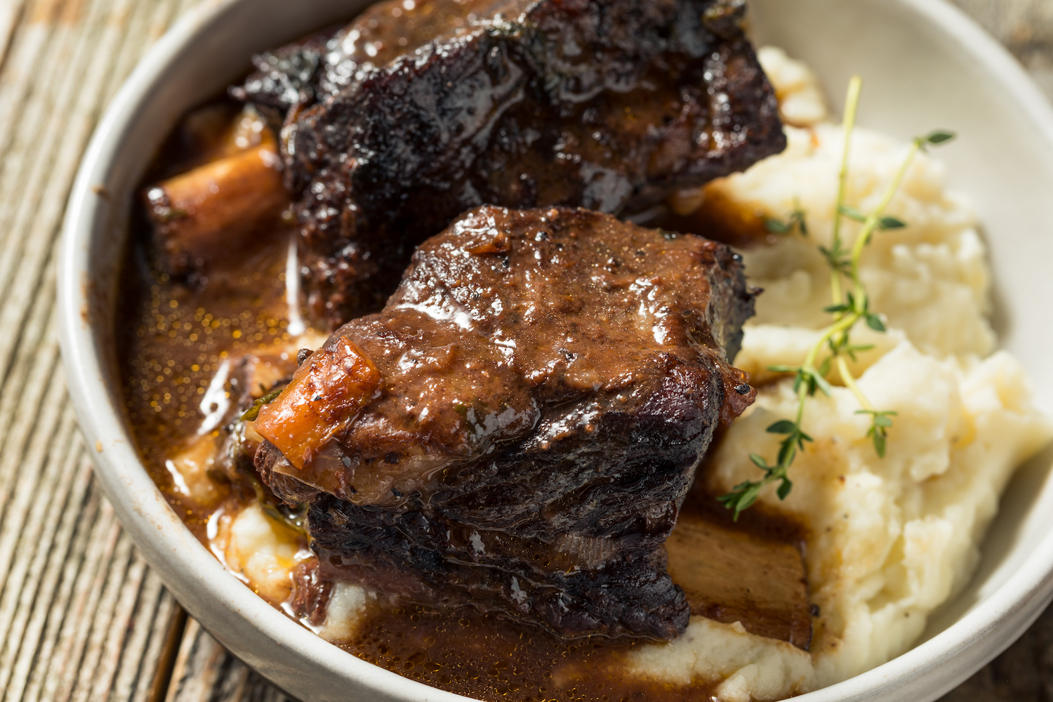 These red wine-braised short ribs are fall-off-the-bone tender