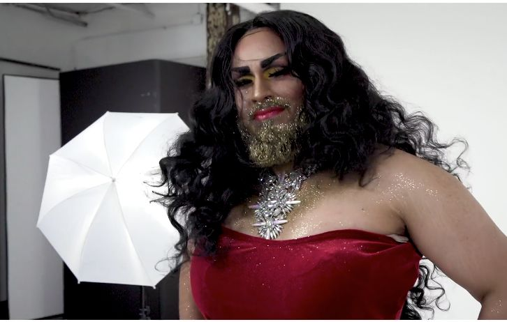 This first-time drag queen's makeover is a glamorous glitter overload