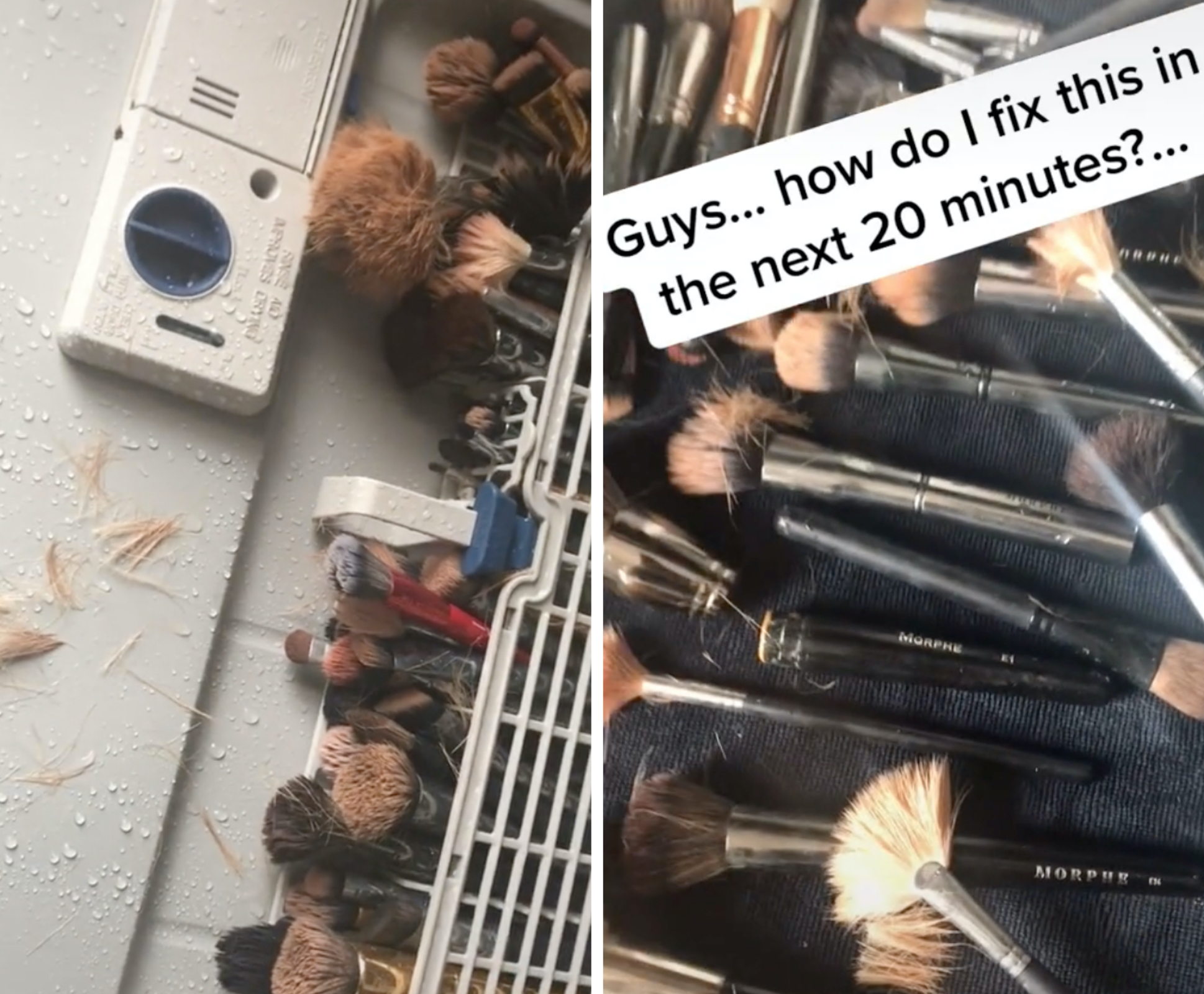 Man destroys wife's expensive makeup brush collection in dishwasher