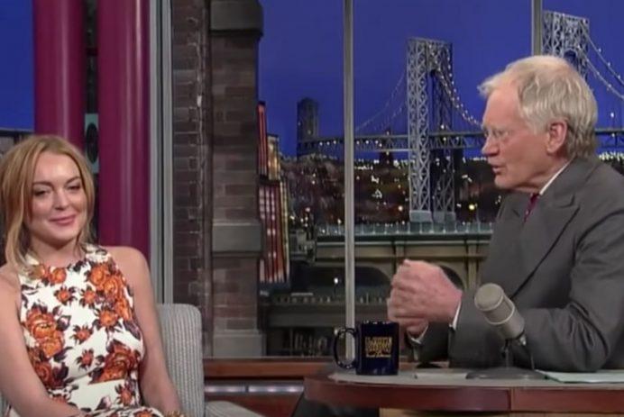 David Letterman and Lindsay Lohan