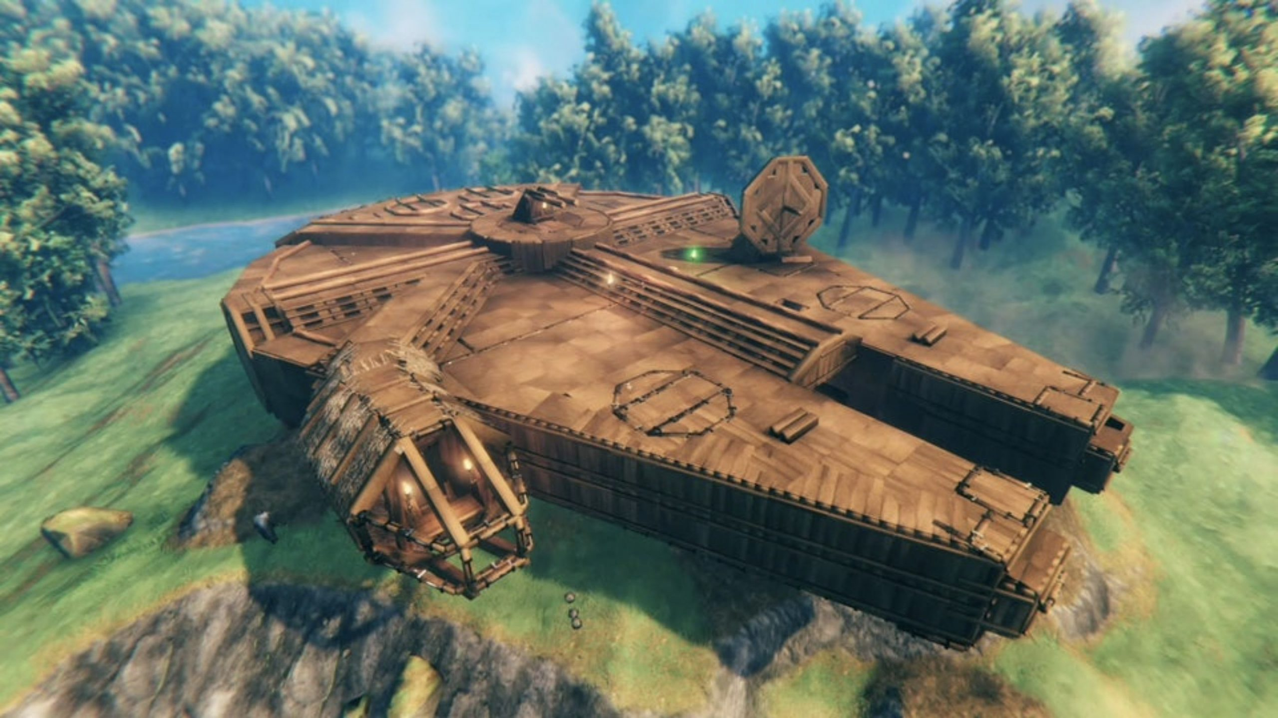 Valheim player recreates the Millennium Falcon at 1:1 scale