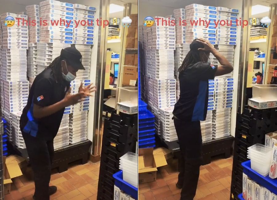 Domino's employee shares heart-wrenching reaction after difficult delivery order