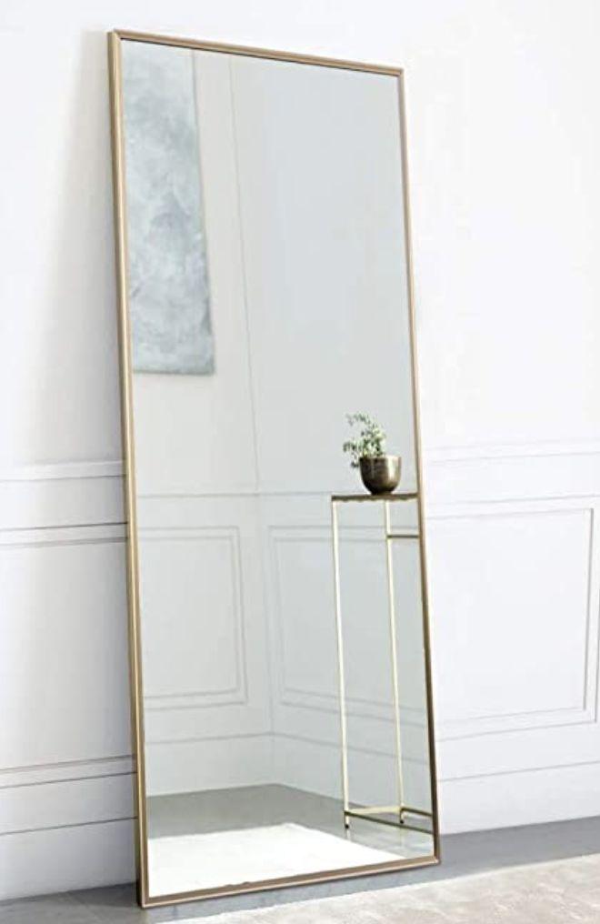 4 Full Length Mirrors That Will Help, Full Length Mirror Black Trim