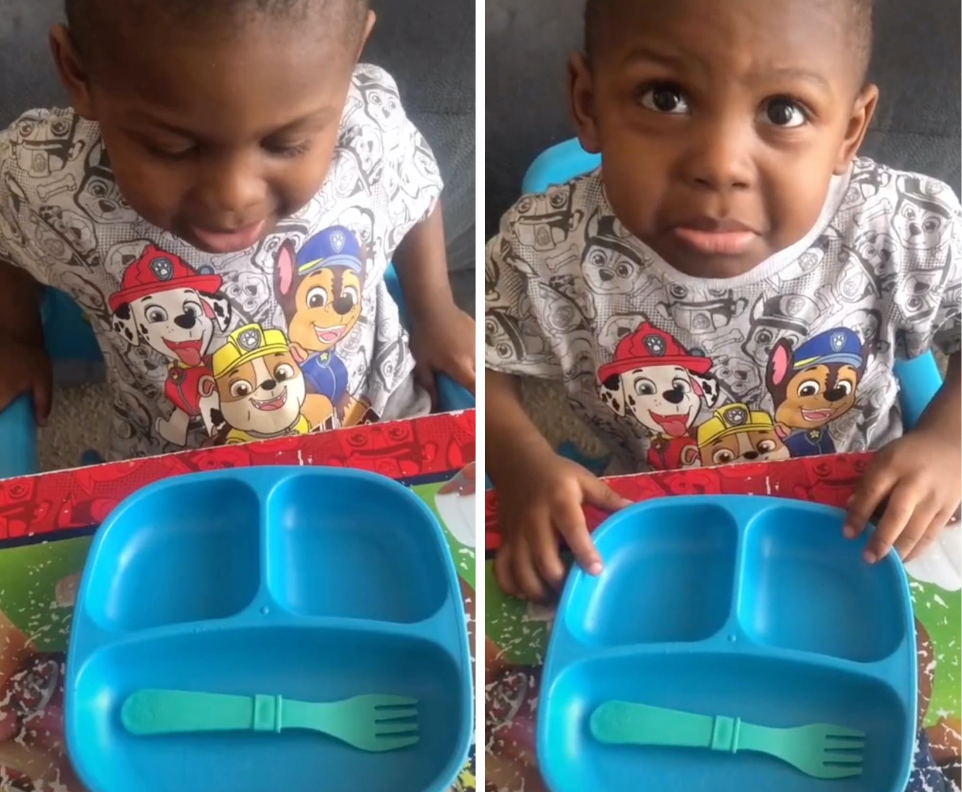 Mom brought to tears by toddler's reaction to TikTok prank