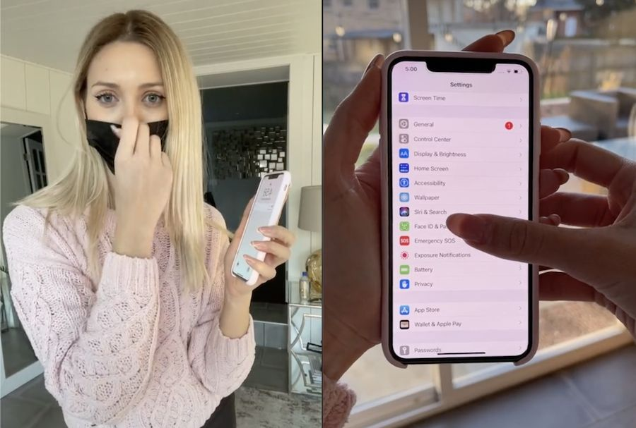 This viral iPhone hack helps you unlock your phone with a face mask on