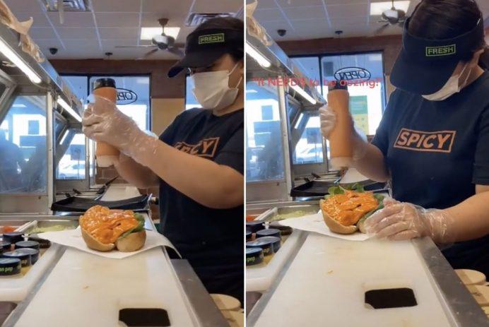 Subway sandwich order