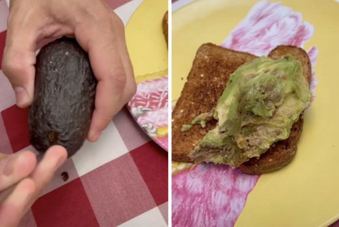 open an avocado without a knife