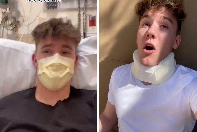 cracking neck hospital