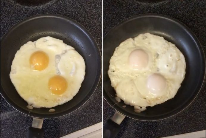 fry an egg without flipping