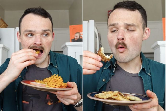 waffle fries in an air fryer