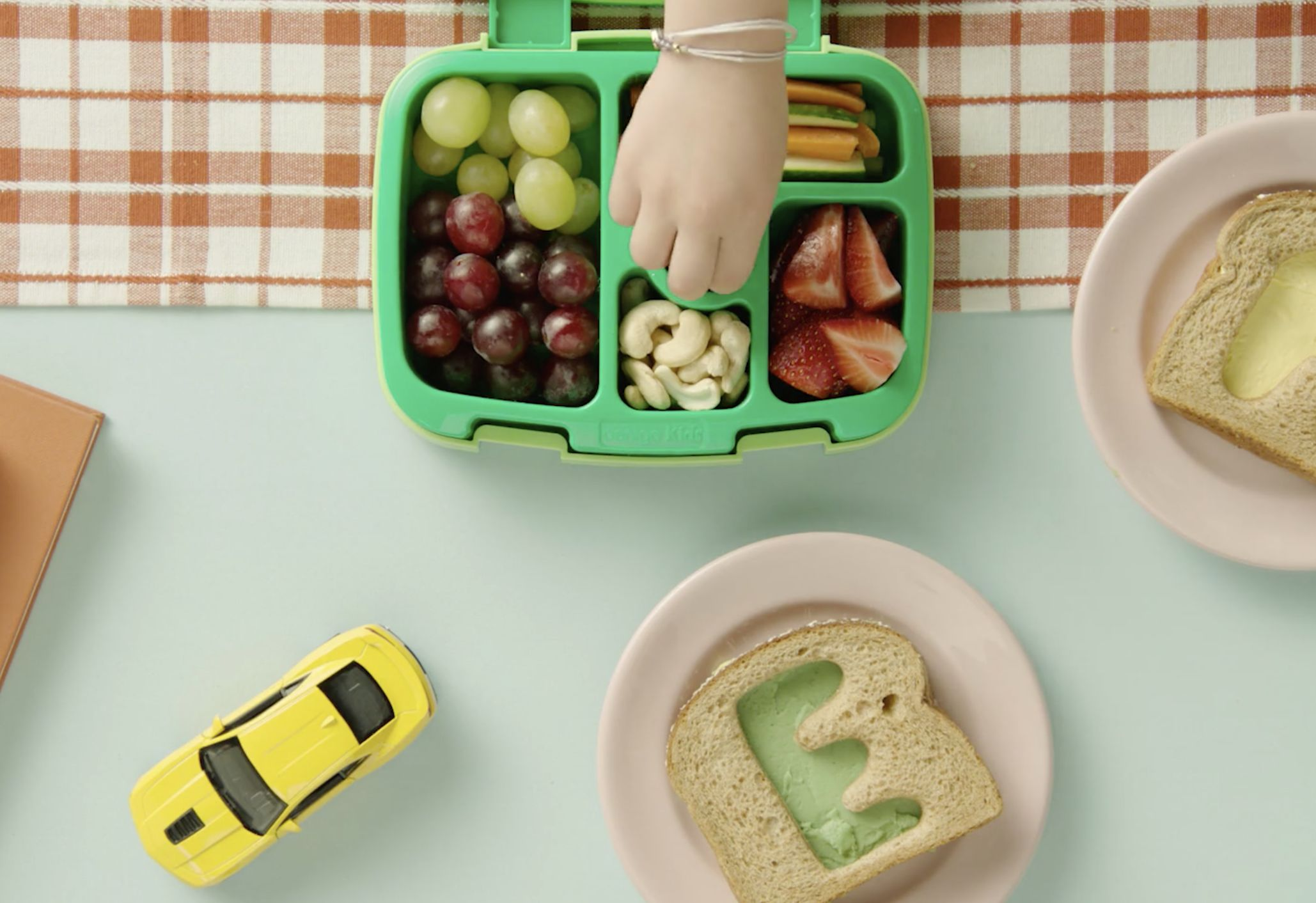 Make these colorful letter sandwiches to spell out personalized messages to your kids