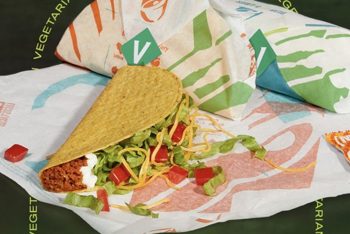 Taco Bell vegetarian taco