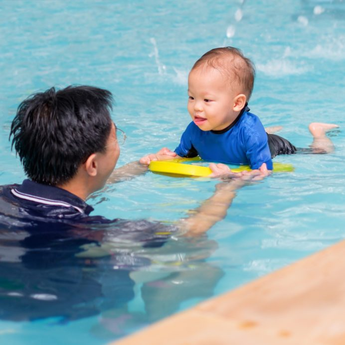 teaching your child to swim tips