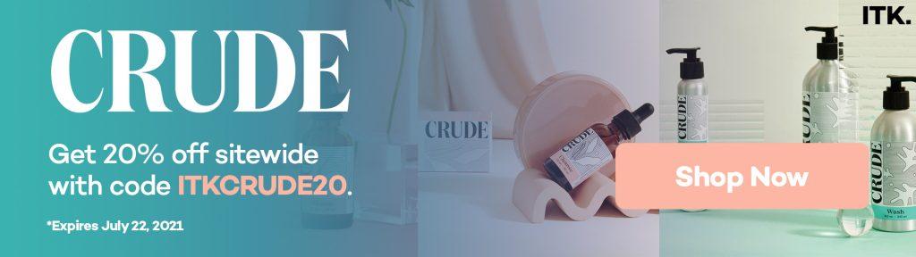 crude skincare promo code