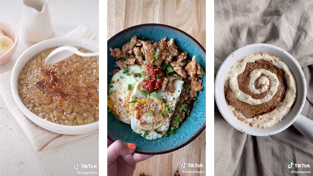 5 TikTok oatmeal recipes that are next level delicious