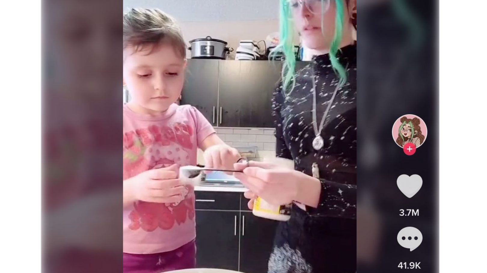 Mom baking