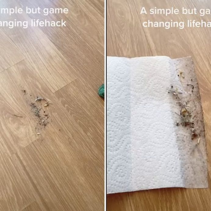 sweep without a dustpan