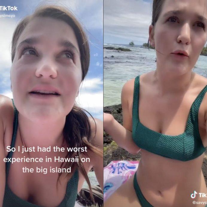 girl asked to leave beach over bikini