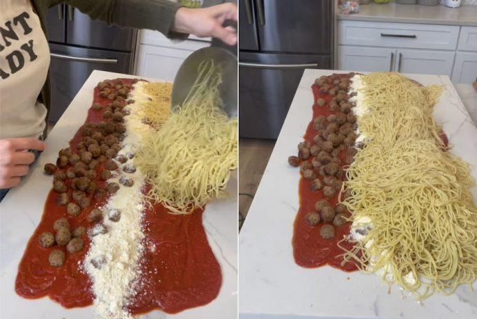 spaghetti table
