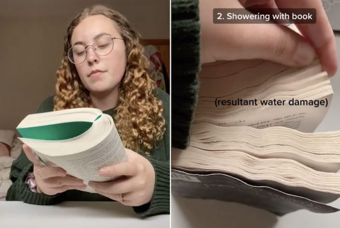 read a book in the shower