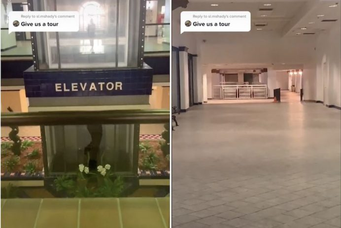 Airbnb with an abandoned mall