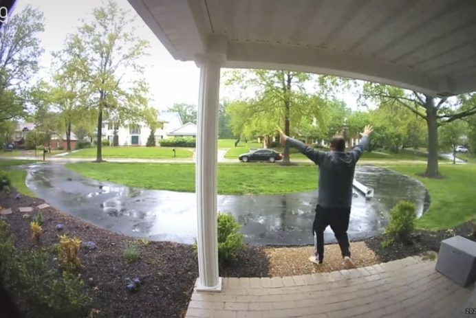 Ring doorbell footage