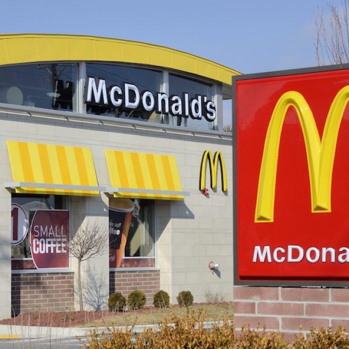 McDonald's Chick 'N' Cheese burger