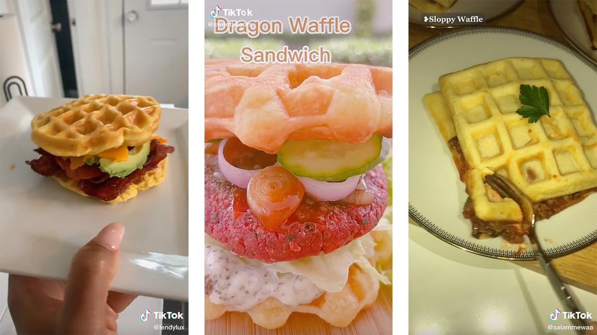 5 seriously yummy waffle sandwiches on TikTok