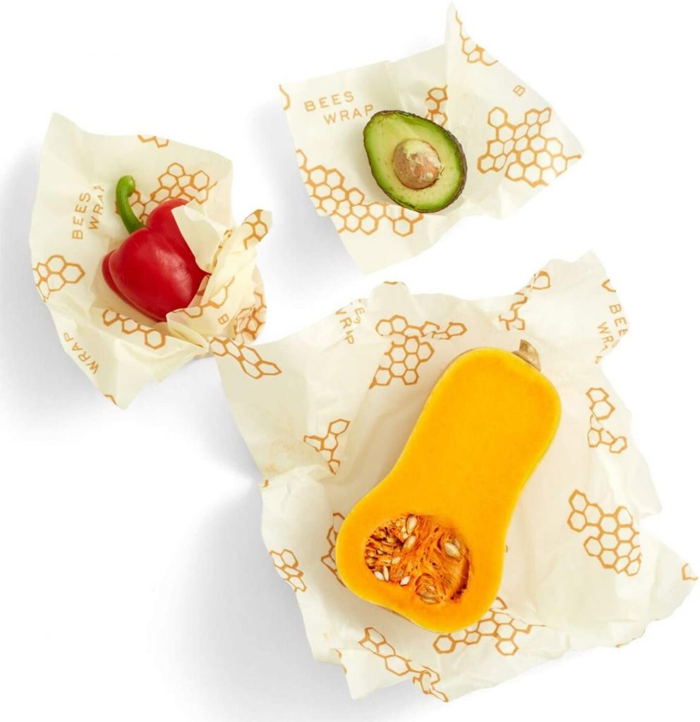 Bee's Wrap beeswax food wraps for sustainable food storage. An alternative to plastic wrap and plastic bags. Prime Day kitchen deals 2021.