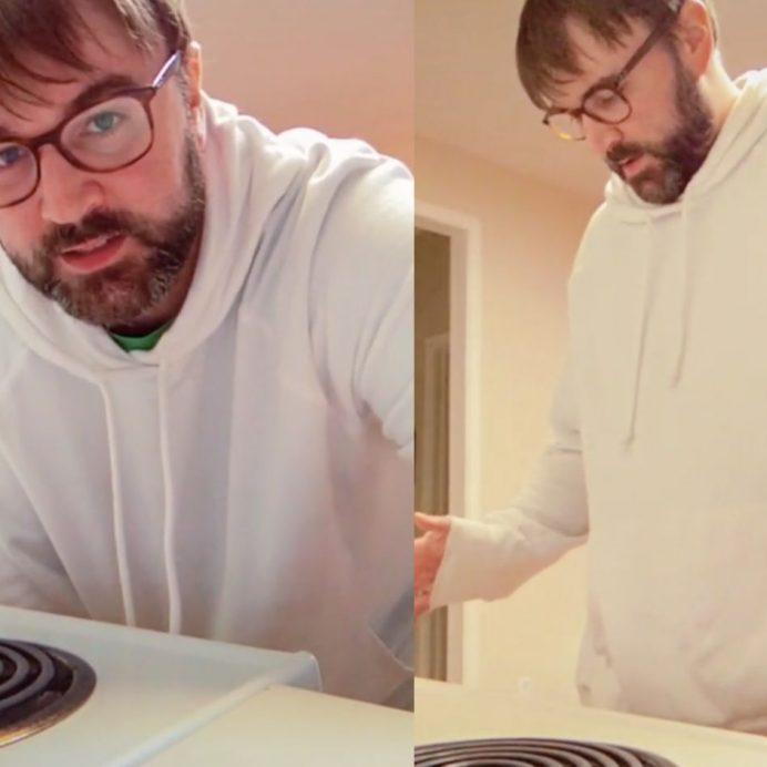 TikTok stove cleaning hack