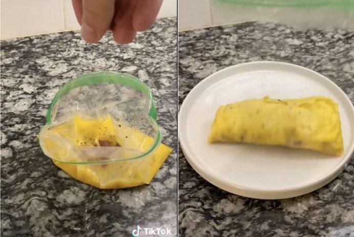 omlete in a bag