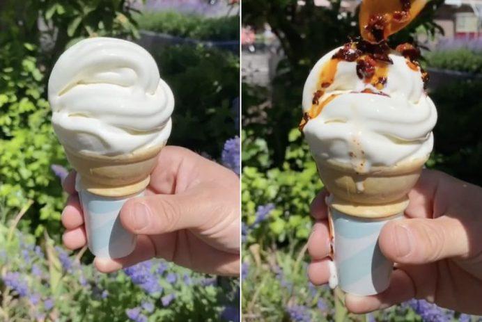 chili oil ice cream