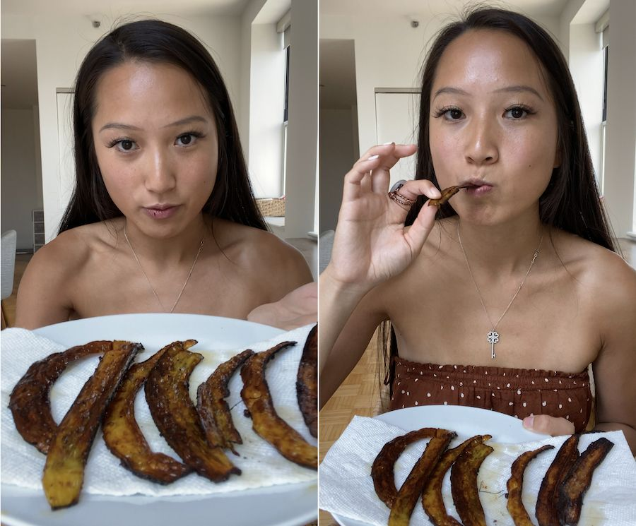 We taste-tested the viral 'banana peel bacon' recipe — here's our take