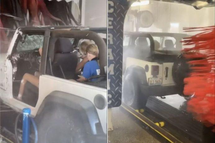drive-through car wash