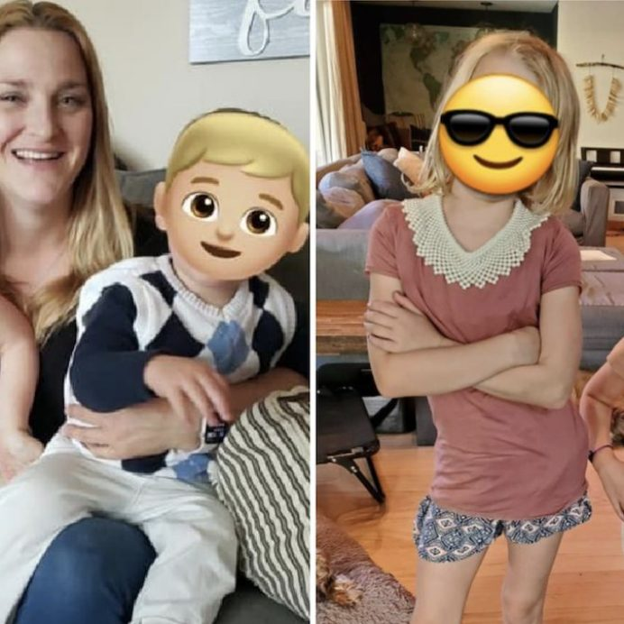 kids faces social media emojis