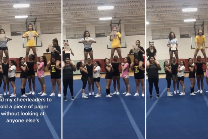 cheerleaders announce pregnancy