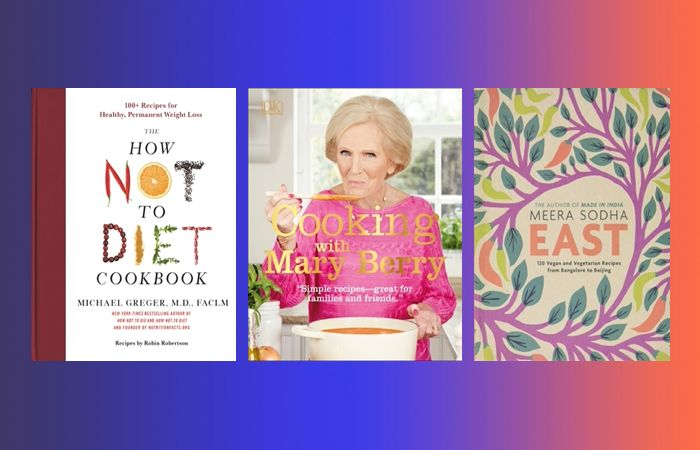 Prime Day cookbook deals on cookbooks like Cooking with Mary Berry, East by Meera Sodha and The How Not To Diet Cookbook.