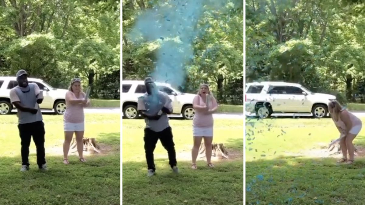 Dad-to-be's epic reaction to his baby's gender reveal has TikTok cracking up