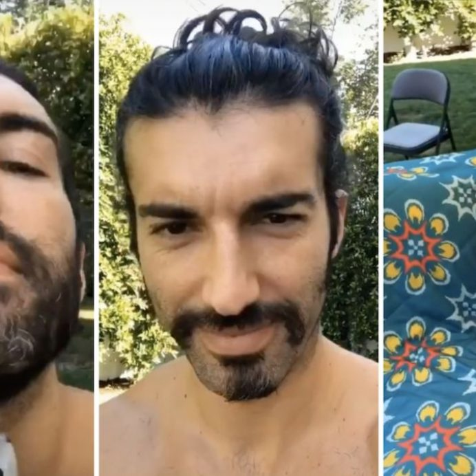 dad shaves beard films reaction