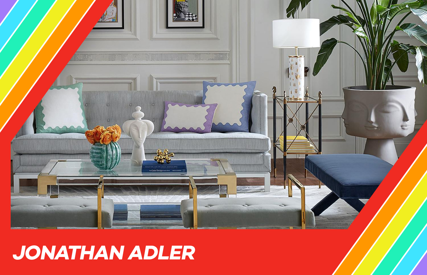 Jonathan Adler's whimsical home decor will instantly make any space feel more special