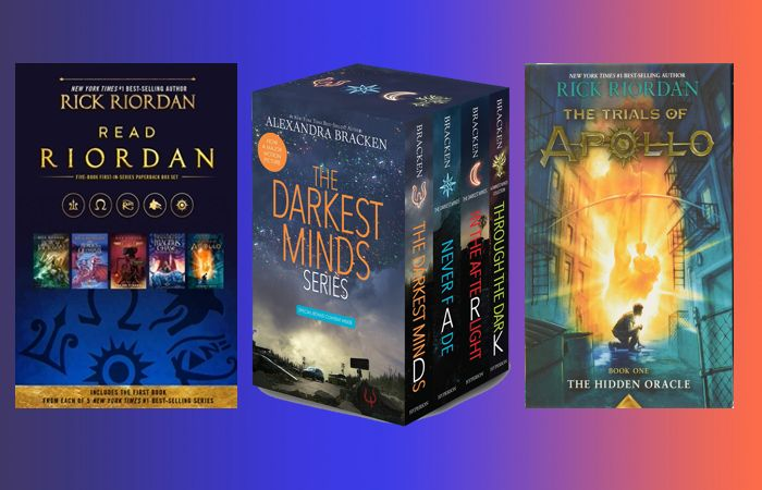 Prime day deals on books for kids and teens like the Percy Jackson series, the Darkest Minds series and the Trials Of Apollo series.