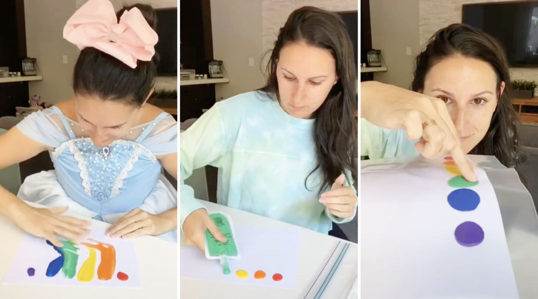 Mom's mess-free finger paint hack causes unexpected controversy on TikTok: 'Oh please…'