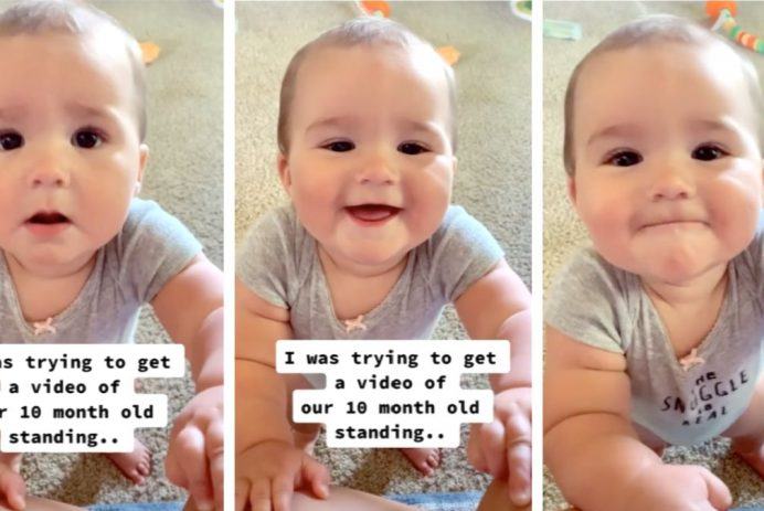 mom accidentally records babys first word