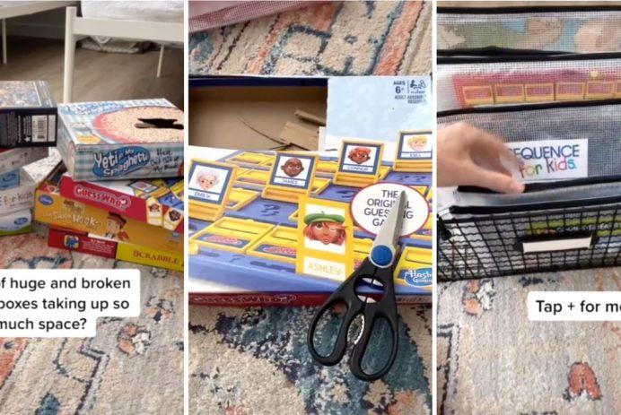 mom board game storage hacks